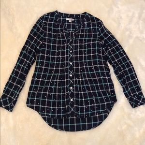 Croft & Barrow Tunic Long Sleeve Button Front PXS